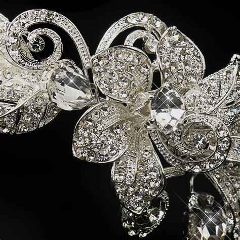 Rhinestone Flower Headpiece rhinestone floral bridal headband headpiece