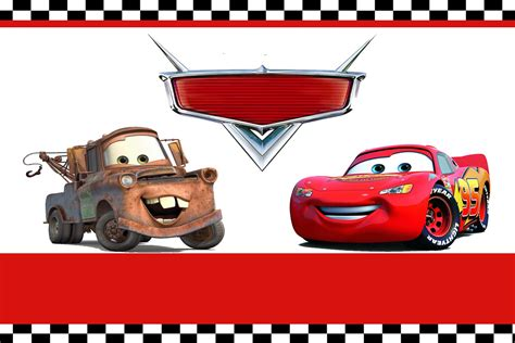 disney cars happy birthday banner printable free printable lightning mcqueen birthday invitations