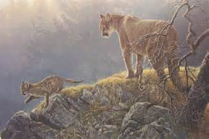 Southwestern Designs art country canada robert bateman excursion cougar and