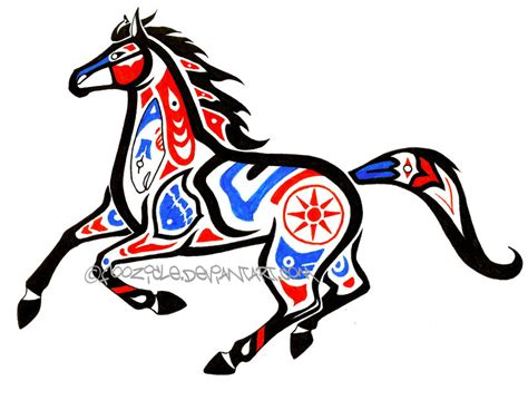 first nations horse by foozicle on deviantart