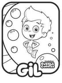 bubble guppies drawings gil coloring child coloring