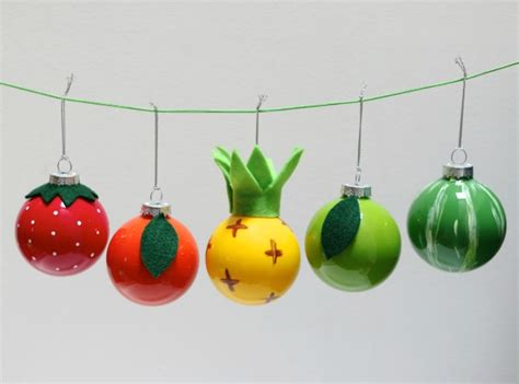 diy decorations baubles fruity bauble ornaments my poppet makes