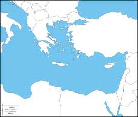 The Mediterranean And Middle East Chapter 3 Outline by Eastern Mediterranean Sea Free Map Free Blank Map Free Outline Map Free Base Map States