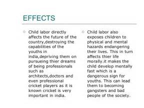 Child Labor Essay Causes And Effects by Child Labour In India