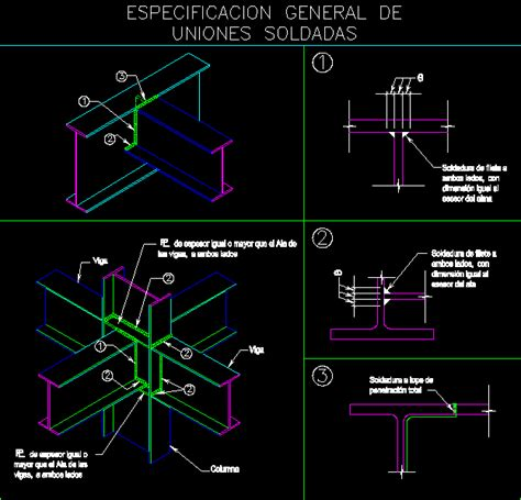 structural specifications  welded joints dwg block