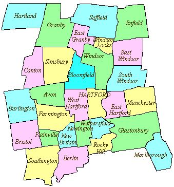 hartford usa map 29 popular map of hartford county ct afputra