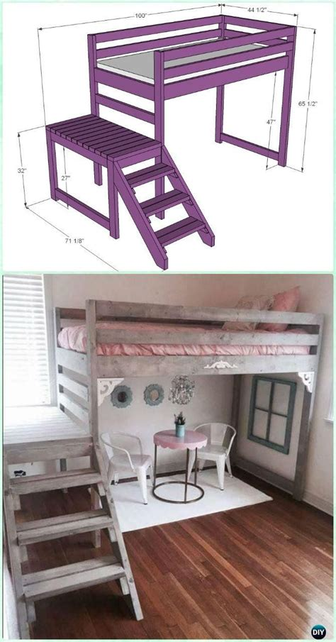 loft bed with desk plans best 25 bunk bed desk ideas on bunk bed with