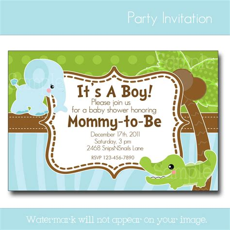 Baby Boy Shower Invitation by Baby Shower Invitations Best Baby Decoration
