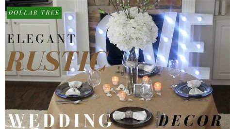 DIY Rustic Wedding Decoration Ideas   Dollar tree DIY