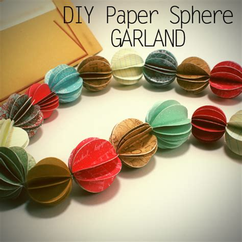 How To Make Paper Garland - how to make garland