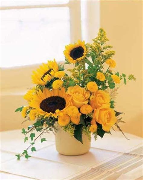 sunflower arrangements ideas sunflower centerpiece arrangement decoration ideas