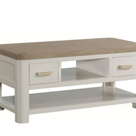 Small Storage Coffee Table Angelo Painted And Oak Small Storage Coffee Table