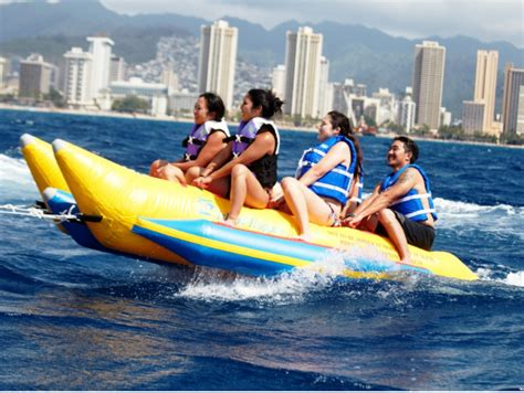 banana boat oahu value combo oahu hot jet ski parasail banana boat