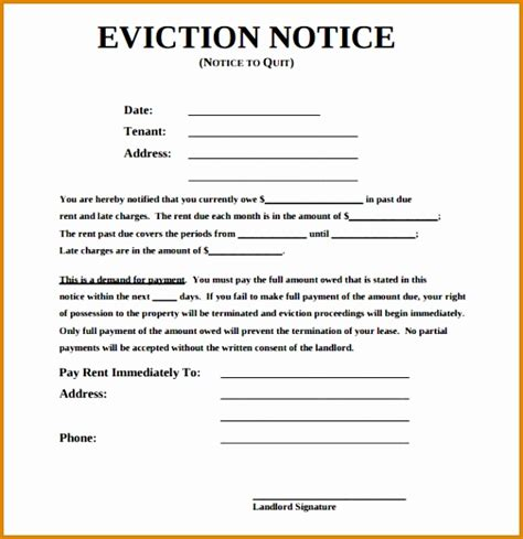 sle eviction notice for nonpayment sle eviction notice for nonpayment of rent 12 non payment