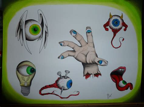 tattoo eye flash colorful traditional two flying sparrow tattoo design