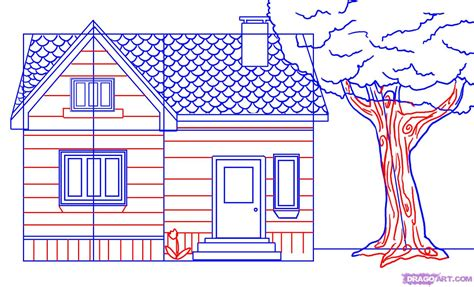 how to draw a 3d house how to draw a house step by step buildings landmarks