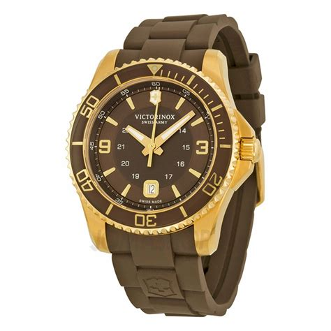 Swiss Army Sa035 Brown victorinox swiss army maverick gs brown brown rubber mens 241608 ebay
