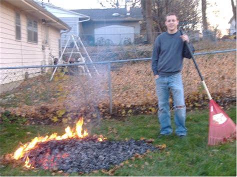 burn leaves in backyard bbem life item