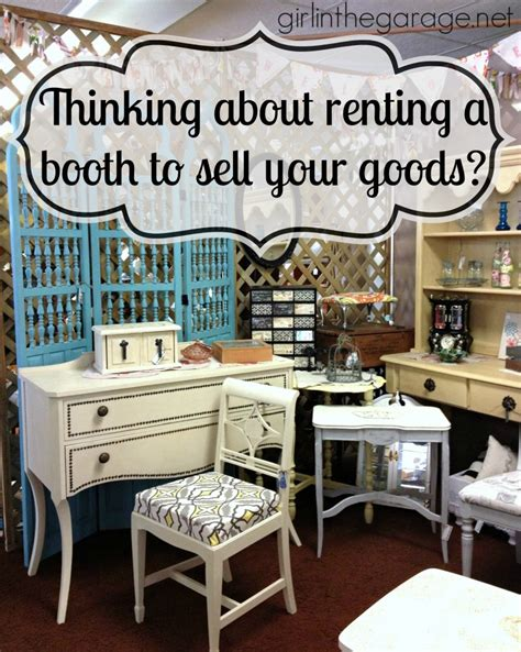 tips    rent  antique booth space  sell  goods