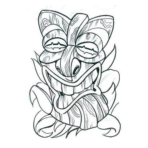 tiki tribal tattoo free dragonfly masks coloring pages
