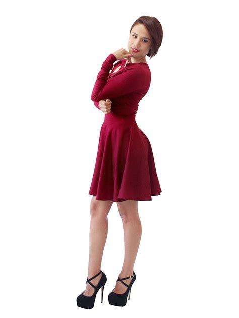 imagenes mujeres vestido de baño vestido de fiesta juvenil coqueto con manga corto 2212