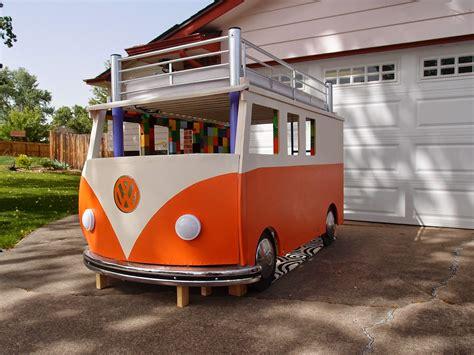 happy camper dad builds toddler  vw bus bed