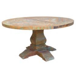 Solid Wood Round Dining Table by 72 Quot Round Dining Table Solid Reclaimed Teak Wood Antique
