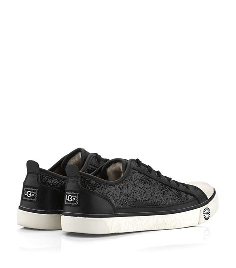 ugg sneakers evera ugg evera glitter sneakers in black lyst