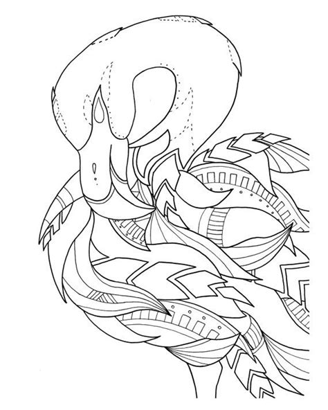 pre framed flamingo coloring page  syvanahbennett