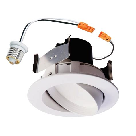 Halo Light Fixture Halo Ra 4 In White Integrated Led Recessed Ceiling Light Fixture Adjustable Gimbal Retrofit