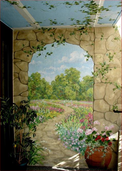 Michael J Romeo Assoc Murals Trompe L Oeil In The Garden Wall Mural