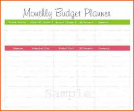 Monthly Budget Plan Template by Printable Monthly Budget Plannermemo Templates Word Memo