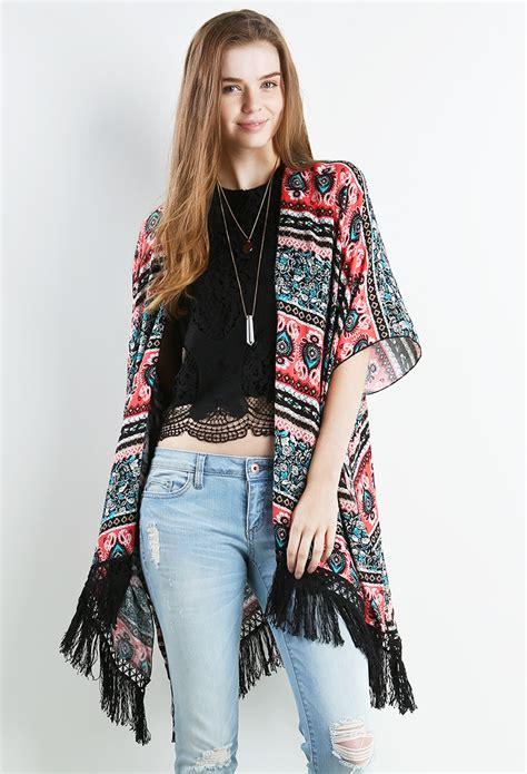 New Arrival Kimono Mandi Hps105 fringe kimono cardigan shop new and now at papaya clothing