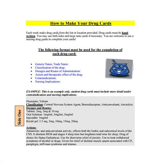 nursing med card template word medication card by nursing students autos post