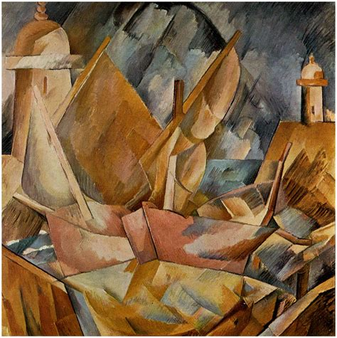 cubist george georges braque harbor in normandy 1909 i the