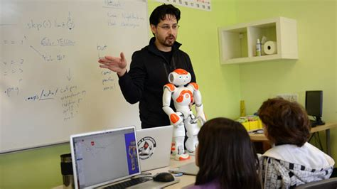 film with robot teachers robots in the classroom what are they good for