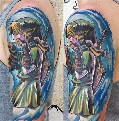 watercolor tattoo zelda 90 tattoos for cool gamer ink design ideas
