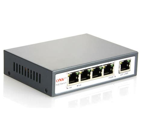 4 network switch 4 poe switch with 4 high power poe ports onv