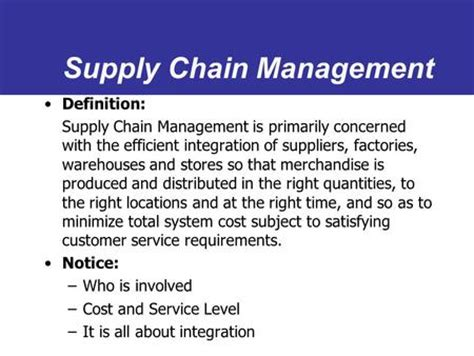 Supply Chain Management Mba In Usa by Supply Chain Management Ppt
