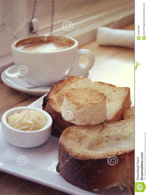 toast coffee house toast coffee and butter stock photo image of fresh 45487466