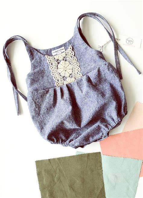 jumpsuit pattern for baby linen lace romper standardofgraceshop on etsy