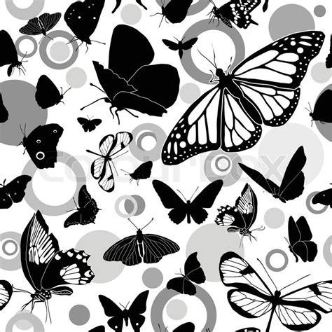 black and white butterfly pattern nahtlose schwarz wei 223 vektor muster mit schmetterlingen