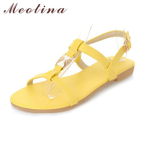 single flat sandals meotina shoes sandals summer ankle flats