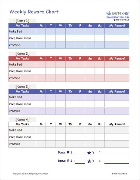 Template For Reward Chart reward chart calendar calendar template 2016
