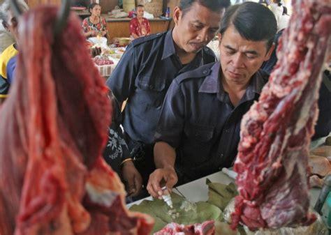 ngawi razia daging temukan cacing tips trik