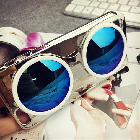 Promo Cxxel Korea 3d Sunglasses Iphone 6 Plus Silver Blue Mu cool luxury fashion sunglasses mirror effect electroplating back cover for iphone6 6plus 6s 6s