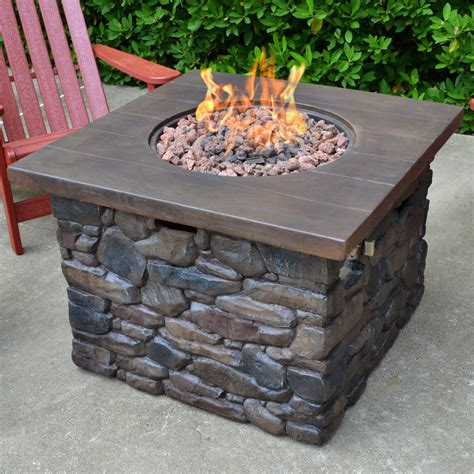 propane firepit tortuga outdoor yosemite faux wood propane pit table reviews wayfair