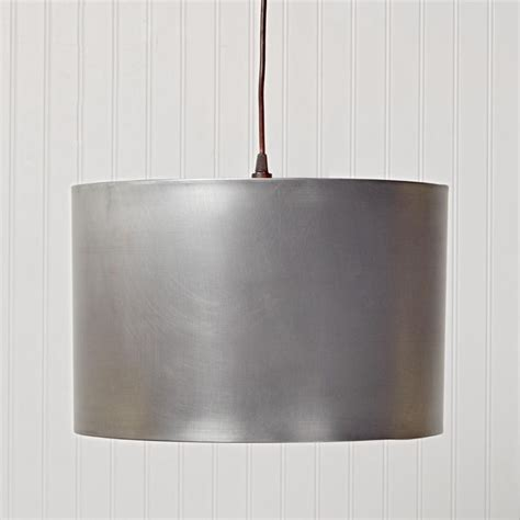 metal drum shade pendant light available in 3 colors