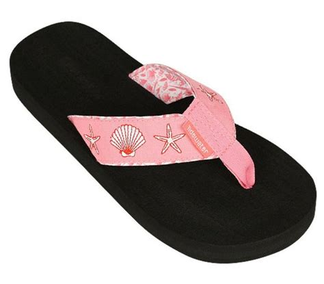 comfortable flip flops with arch support pink shells tidewater flip flops are the perfect