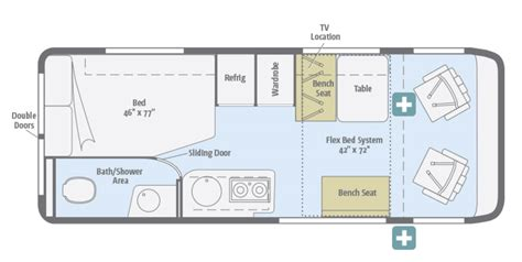 winnebago view floor plans new 2016 winnebago travato 59g class b for sale 1272190